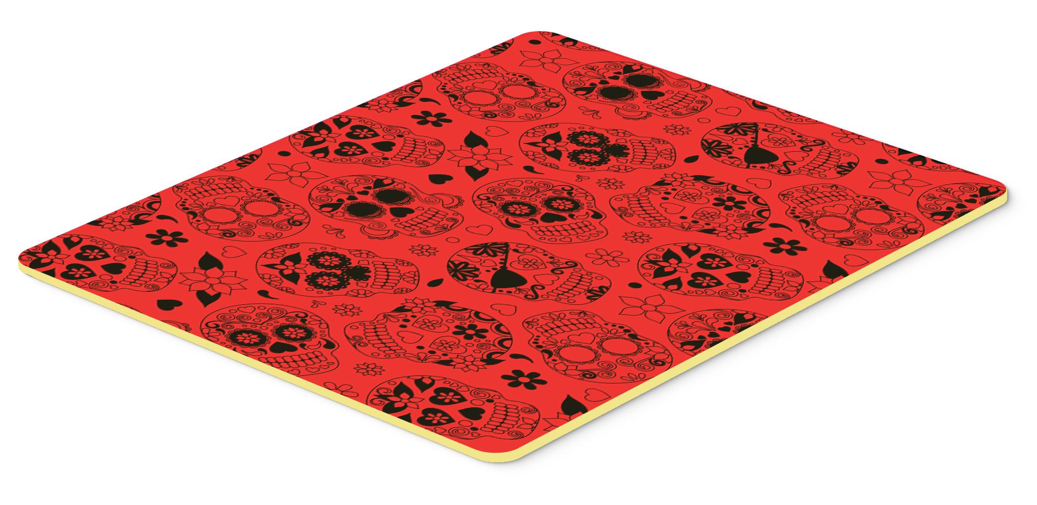 Day of the dead orange kitchen or bath mat 24x36 tanga - Orange kitchen floor mats ...